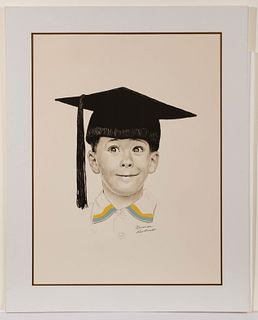 Norman Rockwell (American, 1894-1978) 'The Big Day' Lithograph