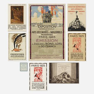 Important 1925 Paris Exposition Internationale des Arts Decoratifs graphics collection