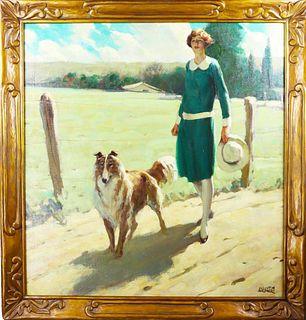 J Clinton Shepherd (1888-1975) Amer, Oil on Canvas