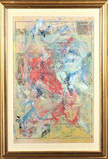 Attrib.Willem de Kooning (1904-1997) Oil/Newsprint