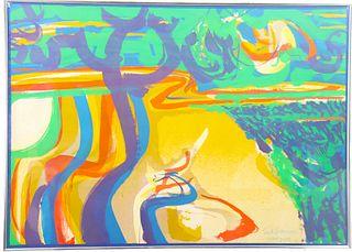 """Syd Solomon (1917 - 2004) Florida, """"Bay Wind"""" 1970"""
