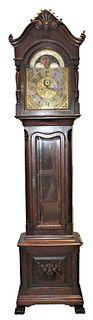 Tiffany Tall Case Sun/Moon Phase Clock circa 1900