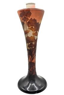Emile Galle (1846-1904) French, Glass Lamp Base
