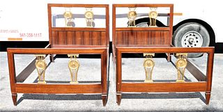 Pair of Antique Continental Twin Beds