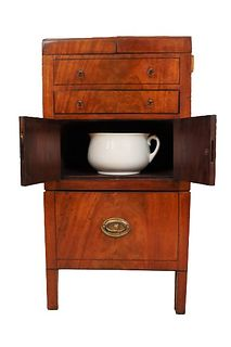 "19th C. English ""Beau Brummell"" Bedside Table"