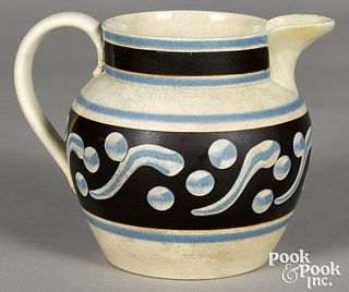 Mocha pitcher, with cats-eye decoration