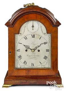 Baltimore Federal mahogany bracket clock