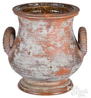Large Virginia redware urn