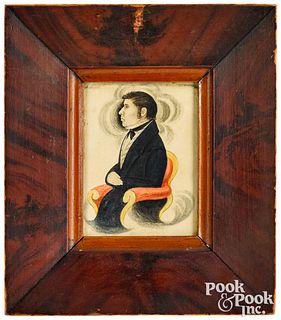 James Ellsworth pair of miniature portraits