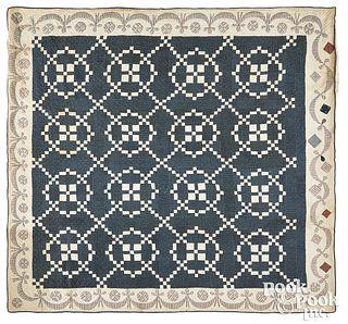 Irish chain quilt 19th c.