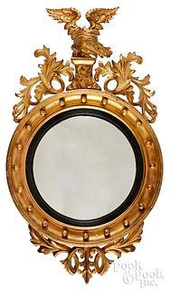 Federal giltwood convex mirror