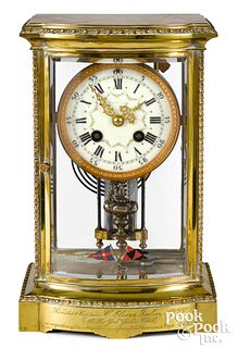 French crystal regulator clock