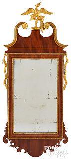 Federal inlaid mahogany mirror