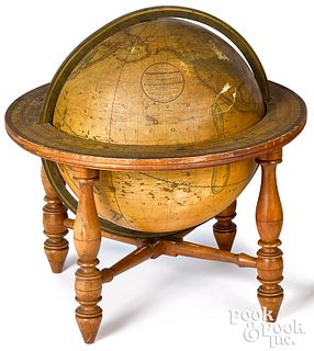 Loring's terrestrial globe on stand