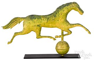 Swell bodied running horse weathervane, 19th c.