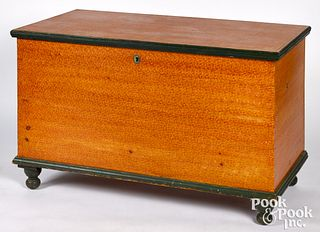 Pennsylvania painted pine blanket chest, 19th c.