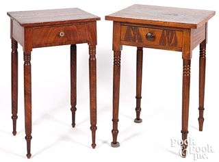 Two Pennsylvania painted poplar one-drawer stands