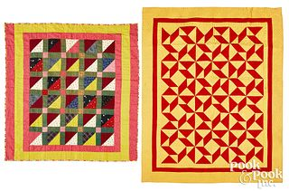Two pieced youth quilts, late 19th c.
