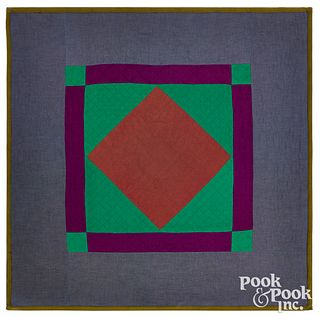 Amish diamond in square youth quilt