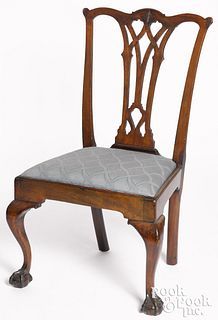 Philadelphia Chippendale mahogany dining chair
