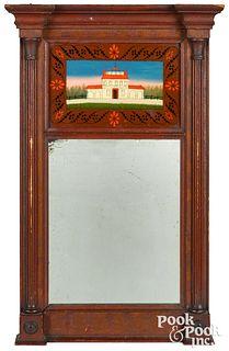 Rare Pennsylvania painted Sheraton mirror