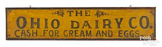 Large painted pine trade sign, late 19th c.