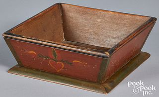 Painted poplar apple box, 19th c.
