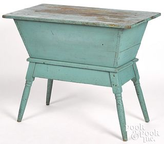 Painted poplar doughbox table, 19th c.