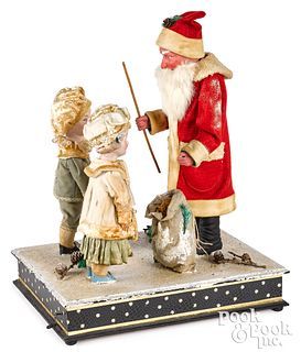 German musical hand crank Santa Claus