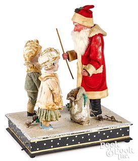 German musical hand crank Santa Claus