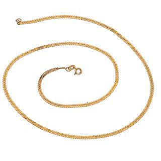 Collar en oro amarillo de 12k. Diseño planchado. Peso. 6.1 g.