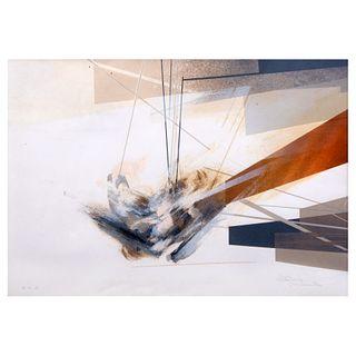 Gustavo Arias Murueta. Sin título. Técnica mixta, P.T. Firmado. Enmarcado. 45 x 64 cm