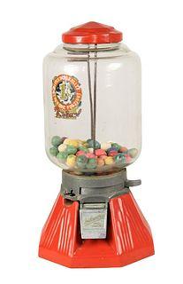 1 Cent Northwestern Gum Ball Machine