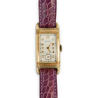 Vintage Gruen Gold Plated Watch