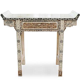Oriental Bone Veneer Altar Table