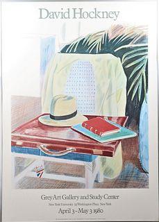 David Hockney Grey Art Gallery Poster 1980