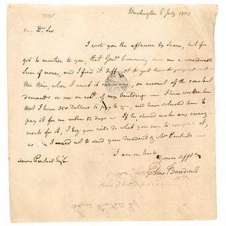 1805 ELIAS BOUDINOT ALS Collecting Debt from NJ Major General John Noble Cumming