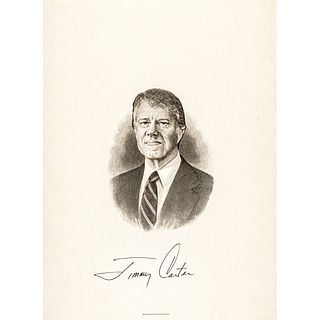 Gorgeous JIMMY CARTER Presidential Engraving Signed