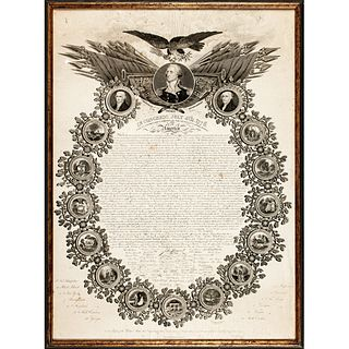 Rare DECLARATION OF INDEPENDENCE Broadside New York Printing by William Woodruff