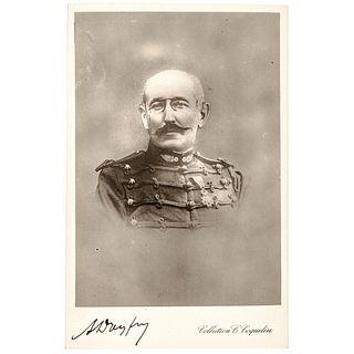 Rare ALFRED DREYFUS Signed Real Photo Postcard of the French Dreyfus<br><br>Affair Scandal