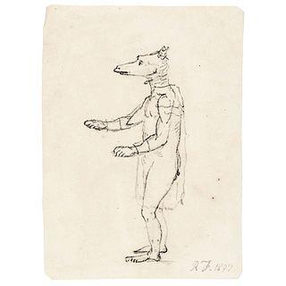 ROBERT FULTON Original Hand-Drawn Sketch Dated 1807 R.F. Initialed