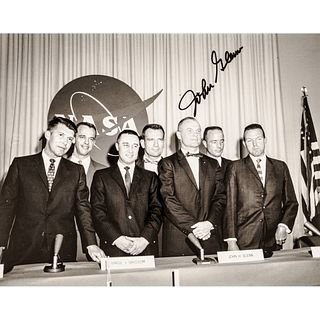 JOHN GLENN Autographed Photograph of the First Seven U.S. Astronauts