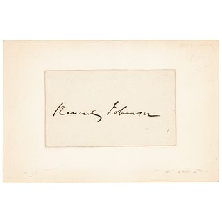 REVERDY JOHNSON Autograph Lawyer for Mary Surratt at Lincoln Assassination trial
