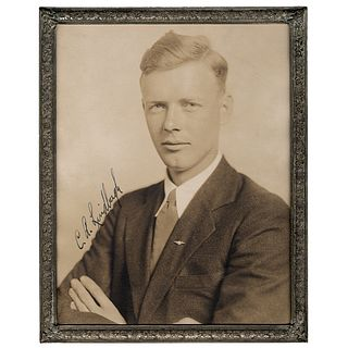 Superb Charles Lindbergh Photograph Signed, C. A. Lindbergh
