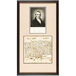 JOHN MARSHALL ALS to His Brother James, While U.S. Supreme Court Chief Justice