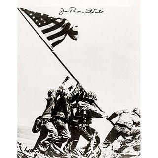 JOE ROSENTHAL Signed Iconic Photo of American Flag Raising Atop Mount Suribachi