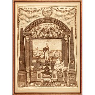 1819 George Washington Memorial Printed Textile, THREADS OF HISTORY No. 54 p. 77