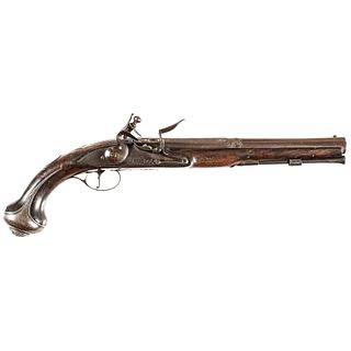 c 1750 French + Indian to American Revolutionary War Flintlock Pistol by GRIFFIN