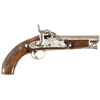 c. 1848, Spanish Military Percussion Pistol, with Lock Dated 1848