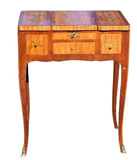 Antique French Marquetry Vanity